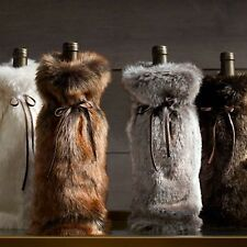RESTORATION HARDWARE LUXE FAUX FUR WINE BAG / 4 STYLES / NEW with TAG!