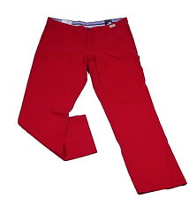 Tommy Hilfiger Jeans Trousers Denton Chinos Chilli Pepper Red Cotton