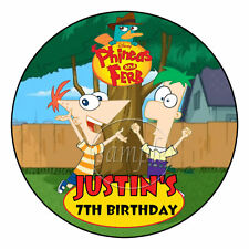 Phineas and Ferb Personalized Birthday Party Favor Labels Stickers
