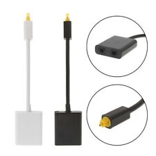 Digital Optical Audio Cable Splitter Adapter 2 Way SPDIF Toslink 1 To 2 Out Hub