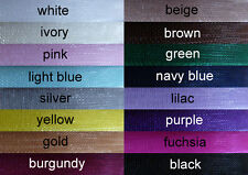 7mm Organza Ribbon x 50m. Brand New - Excellent Condition! 15 Colours!