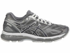 NEW MENS ASICS GEL-NIMBUS 19 RUNNING SHOES TRAINERS CARBON / WHITE / SIL 2E-WIDE