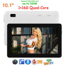 10.1'' Android 4.4 Tablet PC Quad Core 1+16GB Dual Camera WIFI 3G Bluetooth USA