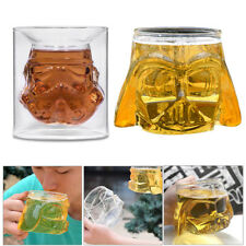 Glass Double Wall Crystal Shot Cup Bar Drink Whiskey Wine Mug 3D Stereo Beer Cup