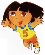 """6.5""""-10.5"""" DORA & DIEGO SPORTS SOCCER CHARACTER WALL SAFE STICKER BORDER CUT OUT"""