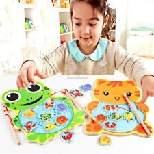 Baby Wooden Fishing Game Magnetic Puzzle Board Kids Jigsaw Puzzle SH 01
