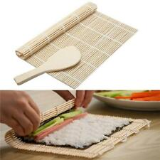 Bamboo Sushi Mat Rice Roller Rolling Maker Tool Supplies Kitchen Roll BS