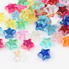 100Pcs 11mm AB Mixed Color Star Acrylic Spacer Loose Beads DIY Jewelry Pentacle
