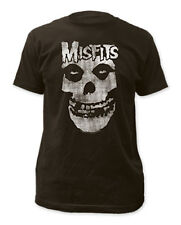 Misfits - Distressed Skull Coal T-Shirt - BRAND NEW - (Official)