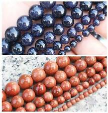 """Natural Glidstone/Blue sand stone Round loose beads 15"""""""