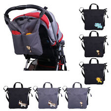 Animal Pattern Waterproof Baby Stroller Pram Bag Mummy Handbag Pushchair Bag