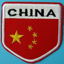 China Flag Star Country Iron on Sew Patch Applique Badge Embroidered Biker Motif