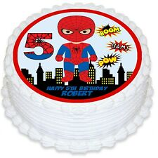 Spiderman Round Edible Icing Cake Topper - PRE-CUT
