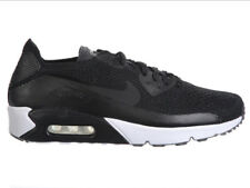NEW MENS NIKE AIR MAX 90 ULTRA 2.0 FLYKNIT RUNNING SHOES TRAINERS BLACK / BLACK