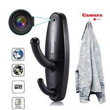 Motion Detection Hidden Spy Camera Clothes Hook DVR Video Nanny Babysitting Cam