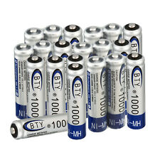 10/20 PCS BTY NiMH AAA Rechargeable Battery 1.2V 1000mAh