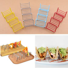 Hard Shell Food Tacos Display Stand Up Holders Wave Kitchen Tool Stainless Steel