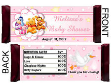PINK WINNIE THE POOH BABY SHOWER CANDY BAR WRAPPERS HERSHEY BAR WRAPPERS