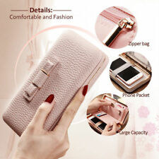 Women's Handbag Purse Pouch Wallet Clutch Card Cover Case for iPhone&Samsung