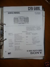 Service-Manual Sony CFD-560L HiFi-System,ORIGINAL