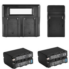 Replacement Battery NP-F970 + USB Charger Dual For SONY NPF970 NP-F500 NP-F750