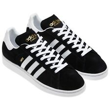 Adidas Campus II Originals Black Lace Up Casual Low Suede Trainers Shoes UK10.5