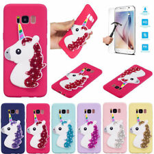 Luxury 3D Unicorn Bling Soft Silicone TPU Case Cover for Various Samsung Galaxy