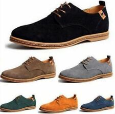Men's Suede European style Leather Lace Up Oxfords Casual Shoes Flats Loafers