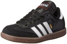 Boy's Youth ADIDAS SAMBA Black Leather Indoor Soccer Casual Sneakers Shoes NEW