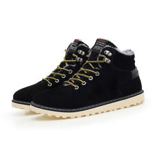 Men's Martin Boots Ankle Boots Lace Up Velveteen New Winter Outdoor Leather a36