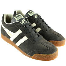 WOMENS GOLA HARRIER LOW TOP SUEDE RUNNING WHITE STRIPED TRAINERS UK SIZES 3-8