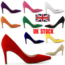 UK Womens Pointed High Heels Cocktail Pumps Smart Work Party Court Shoes Size