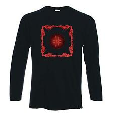 CELTIC FIRE LONG SLEEVE T-SHIRT - Pagan Druid Wicca Goth Gothic - FREE P&P