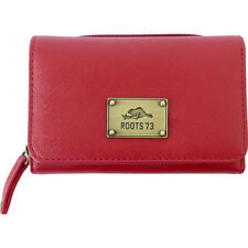 Roots 73 Trifold Leather Wallet with 3 Way Zip 2 Colors Women's Wallet NEW