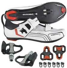 Venzo Cycling Bicycle Bike Triathlon Shoes with Pedals For Shimano SPD SL Look W