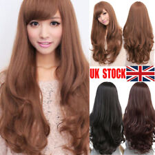New Style Fashion Sexy Women Girl Wavy Curly Long Hair Full Cosplay Party Wig UK