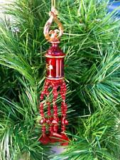 Vintage CHINESE~JAPANESE~ASIAN~ALL GLASS Chandelier~ CHRISTMAS  Glass Ornament~.