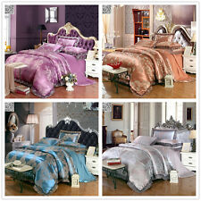 Satin Cotton Quilt/Doona/Duvet Cover Pillow Cases Set Queen/King Size Luxury New