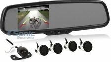"Crimestopper Replacement Rearview Mirror w/ 4.3"" LCD & Park Assist 