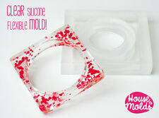 Clear silicone resin bangle bracelet mold multiple sizes styles jewelry crafts
