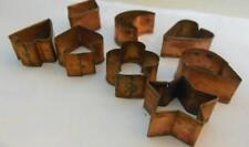 Little Cookie / Hors d'Oeurve Cutters Copper Vintage About 1.5""
