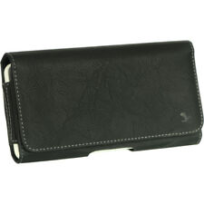 Luxmo Leather Belt Clip Pouch Holster Phone Holder Horizontal #8 Black