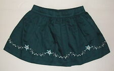 NWT JANIE JACK Teal Skirt ART NOUVEAU FAIRY Embroidered flowers baby girl 3-6 mo