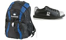 Womens Brunswick TZone Bowling Shoes Black/Silver Sizes 5-11 & Bruns Back Pack