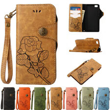 PU Leather Flip Case Wallet Card Holder Cover Stand For Huawei P8 P9 P10 Lite