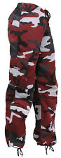 Womens Camo Pants Red Camouflage Paratrooper Style Fatigues Rothco 3782