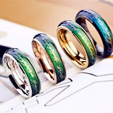 Military Mood Rings Lovers Titanium Emotion Temperature Color Change Rings Punk
