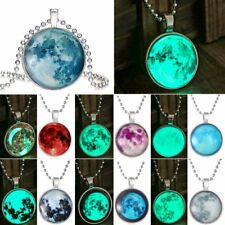 Space Universe Luminous Glow In The Dark Time Gem Pendant Necklace Jewelry Hot