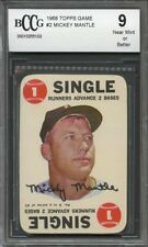 1968 topps game #2 MICKEY MANTLE new york yankees BGS BCCG 9