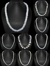 Natural Blue Flash Moonstone Single Strand Mixed Shape Beads Handmade Necklace